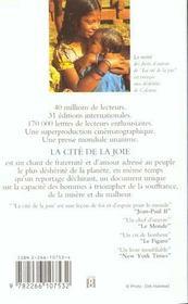 La cité de la joie - 4ème de couverture - Format classique