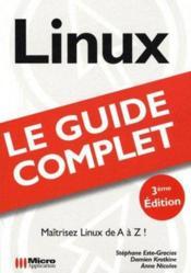 Linux ; (guide complet) - Couverture - Format classique