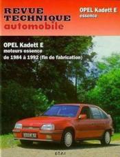 Rta 461.6 Opel Kadett E Essence Tous Types 85-92 - Couverture - Format classique