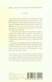 Le Poete Babel 500 - 4ème de couverture - Format classique