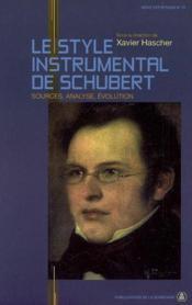 Style instrumental de schubert - Couverture - Format classique
