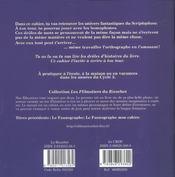 Le scriptophone ; mon cahier - 4ème de couverture - Format classique