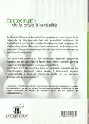 Dioxine ; de la crise à la réalité - 4ème de couverture - Format classique