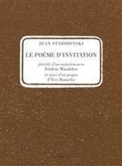 Poeme D'Invitation (Le) - Couverture - Format classique
