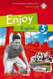 ENJOY ENGLISH IN ; 3ème ; livre de l'élève (édition 2009) - Couverture - Format classique