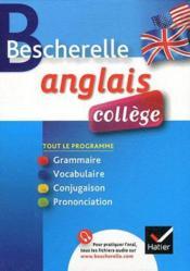 Bescherelle ; anglais ; collège - Couverture - Format classique