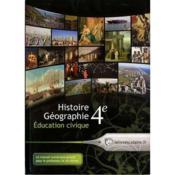 Histoire-géographie, éducation civique ; 4ème - Couverture - Format classique