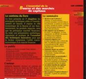 L'essentiel de la bourse et des marchés de capitaux (3e édition) - 4ème de couverture - Format classique