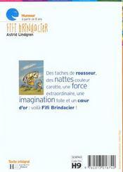 Fifi Brindacier - 4ème de couverture - Format classique