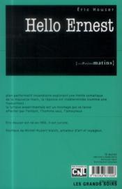 Hello Ernest - 4ème de couverture - Format classique