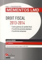 Droit fiscal 2013-2014 (2e édition) - Couverture - Format classique