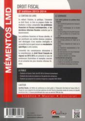Droit fiscal 2013-2014 (2e édition) - 4ème de couverture - Format classique