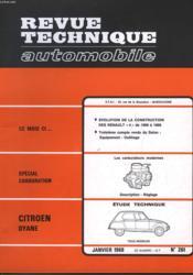 Revue Technique Automobile - N°261 - Couverture - Format classique