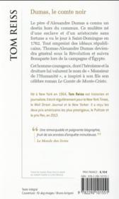 Dumas, le comte noir - 4ème de couverture - Format classique