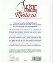 Le petit larousse médical - 4ème de couverture - Format classique