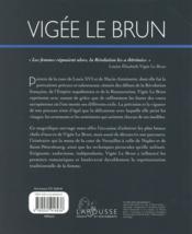 Vigée le Brun - 4ème de couverture - Format classique