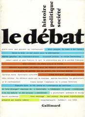 Revue Le Débat N.1 - Couverture - Format classique