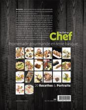 De chef en chef ; promenade gourmande en terre basque - 4ème de couverture - Format classique