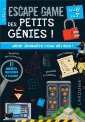 Escape game des petits génies ; 6e, 5e - Couverture - Format classique