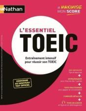 L'essentiel TOEIC ; entrainement intensif pour réussir son TOEIC (édition 2020) - Couverture - Format classique