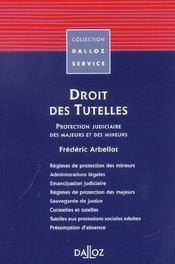 Droit des tutelles ; protection judiciaire des majeurs et des mineurs - Intérieur - Format classique