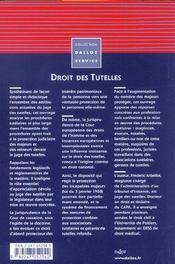 Droit des tutelles ; protection judiciaire des majeurs et des mineurs - 4ème de couverture - Format classique