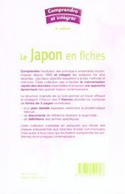 Le japon en fiches ; concours commerciaux (3e édition) - 4ème de couverture - Format classique