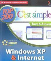 Windows xp et internet, top 200 c'est simple - Intérieur - Format classique