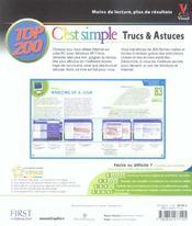 Windows xp et internet, top 200 c'est simple - 4ème de couverture - Format classique
