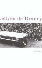Lettres de drancy - Couverture - Format classique