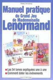 Manuel pratique du jeu de mlle lenormand - Intérieur - Format classique
