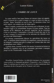 L'ombre de janus - 4ème de couverture - Format classique