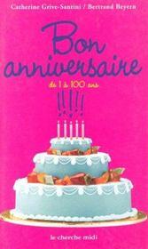 Bon anniversaire de 1 a 100 ans - Intérieur - Format classique