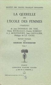 La querelle de l'ecole des femmes - Couverture - Format classique