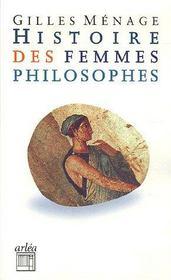 Histoire Des Femmes Philosophes - Intérieur - Format classique
