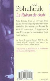 Le ruban de chair - 4ème de couverture - Format classique