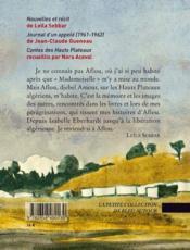 Aflou ; Djebel amour - 4ème de couverture - Format classique