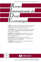 Revue Internationale De Droit Economique N.2010/3 - Couverture - Format classique