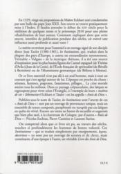 Le livre des amis de Dieu ou les institutions divines - 4ème de couverture - Format classique