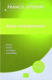 Auto-entrepreneur (4e édition) - Couverture - Format classique