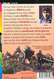 Cheval De Guerre - 4ème de couverture - Format classique