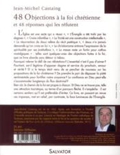 30 objections à la foi chretienne ; et 30 réponses qui les réfutent - 4ème de couverture - Format classique