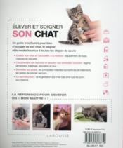 Élever et soigner son chat - 4ème de couverture - Format classique