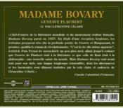 Madame Bovary - 4ème de couverture - Format classique