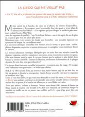 Les séniors et le sexe - 4ème de couverture - Format classique