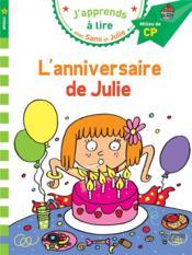 J'apprends à lire avec Sami et Julie ; l'anniversaire de Julie - Couverture - Format classique