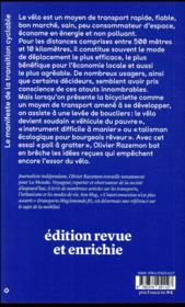 Le pouvoir de la pédale ; comment le vélo transforme nos société cabossées - 4ème de couverture - Format classique