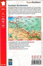 La traversée des Pyrénées ; Pyrénées occidentales ; Pays basque / Béarn - 4ème de couverture - Format classique