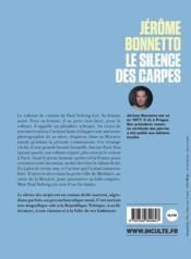 Le silence des carpes - 4ème de couverture - Format classique