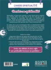 Cahiers Spiritual'été ; booster sa spiritualité (édition 2021) - 4ème de couverture - Format classique